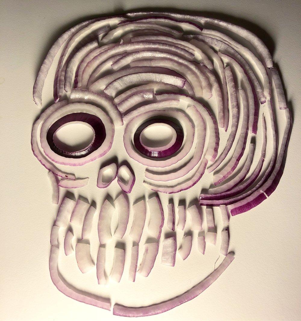 february 21  ‐  red oniun skull