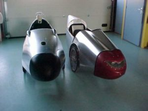 The Alligt AW, aka the A3 (left) next to it's close relative the Flevobike AW, AKA the A2