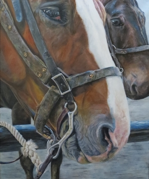 My Friend is a Mule - Oil