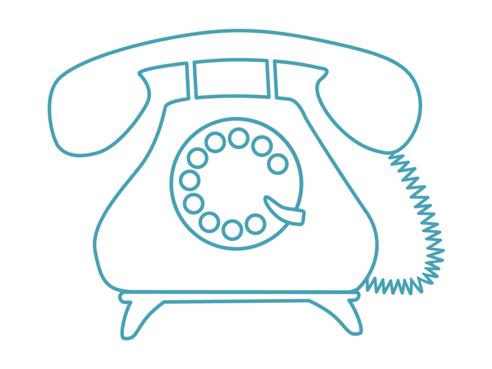 Graphic image of a rotary phone