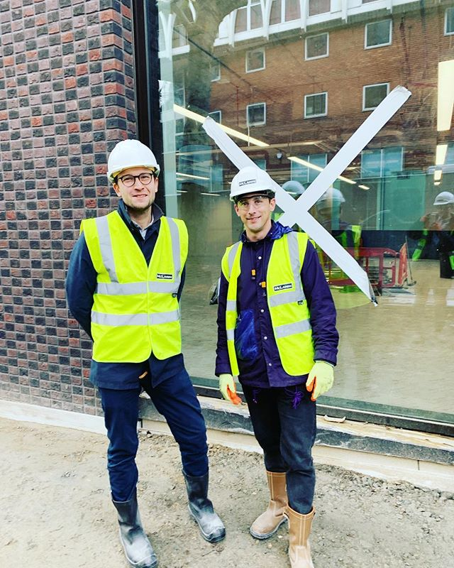 solid dress code for a site visit with our resident architect 👷🏼‍♂️👷🏽‍♂️
