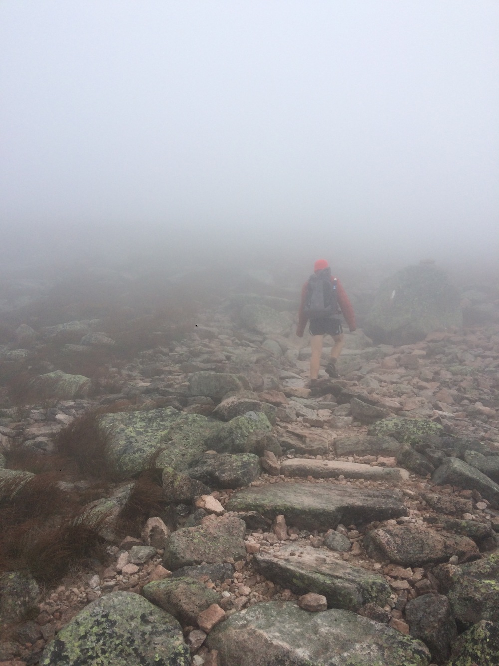 Walking up Katahdin