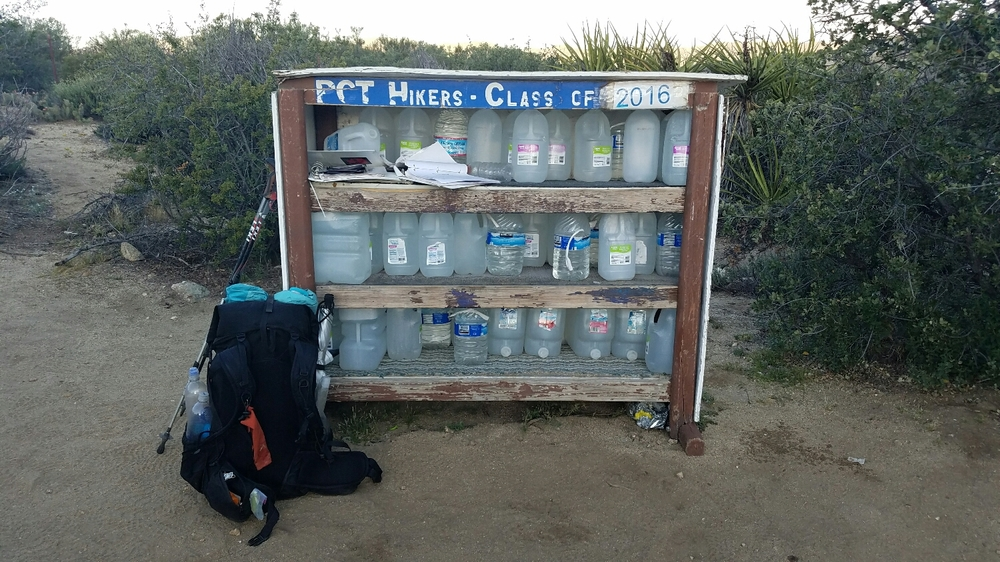 water cache at mile 142.