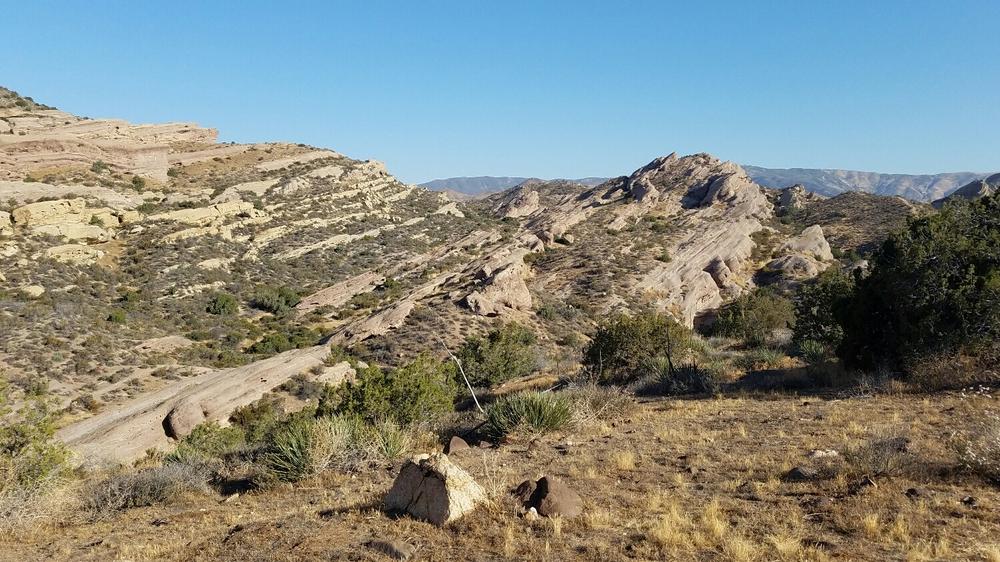 Vasquez Rocks, just before we hit Agua Dulce town center.
