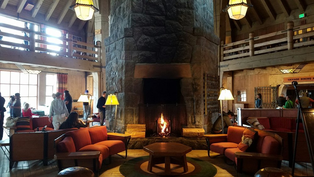 the main lobby at Timberline
