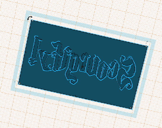First view of the Scourgify stamp in TinkerCAD - still to be printed and tested..