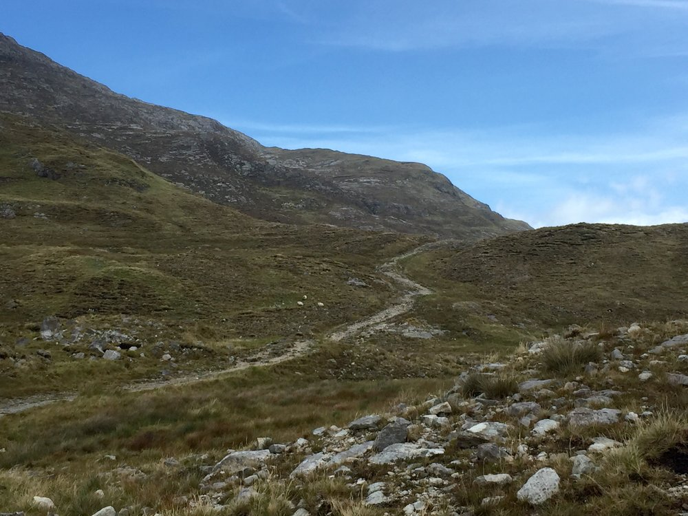 Trail to Mám Éan Pass, Connemara, Ireland
