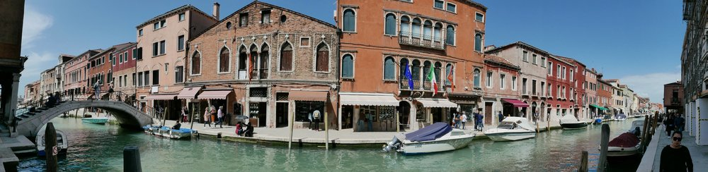 Canal-side in Murano