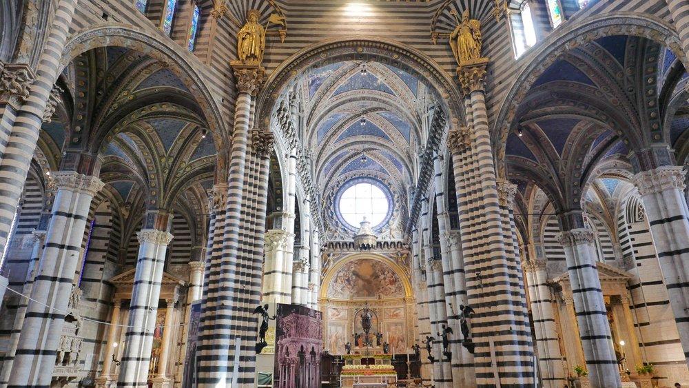 Inside the Siena Duomo