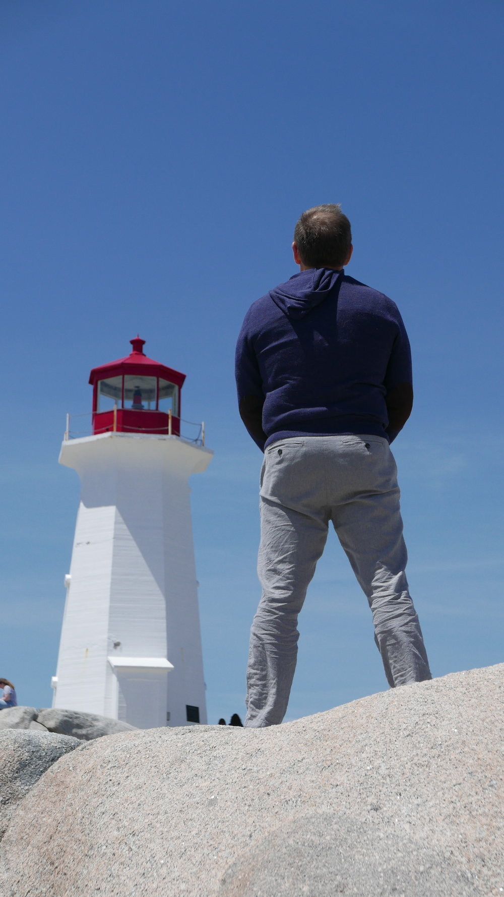 M at Peggy's Cove