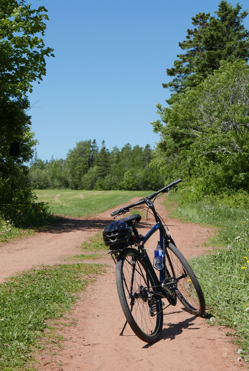 Along the PEI rail trail