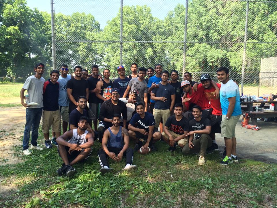 Brothers at the Annual Cutthroat Classic held by the brothers of City College Of New York