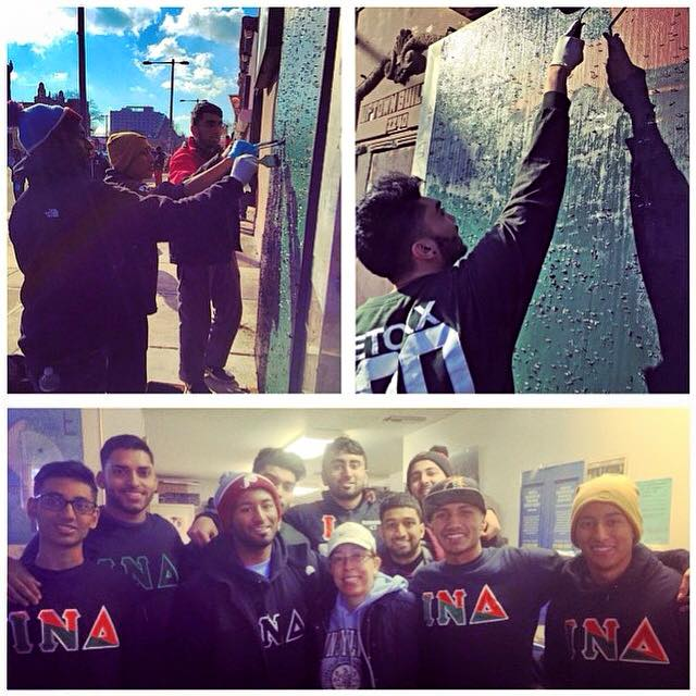 Our brothers spent the morning giving back to the community in remembrance of the great Dr. Martin Luther King, Jr.