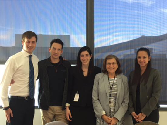 Left to Right: Peter Willis (HKS '17), Logan Powell (U.S. Census Bureau), Rebecca Scharfstein (HKS/HBS '18), Trudi Renwick (U.S. Census Bureau), and Alexandra Figueroa (U.S. Census Bureau).
