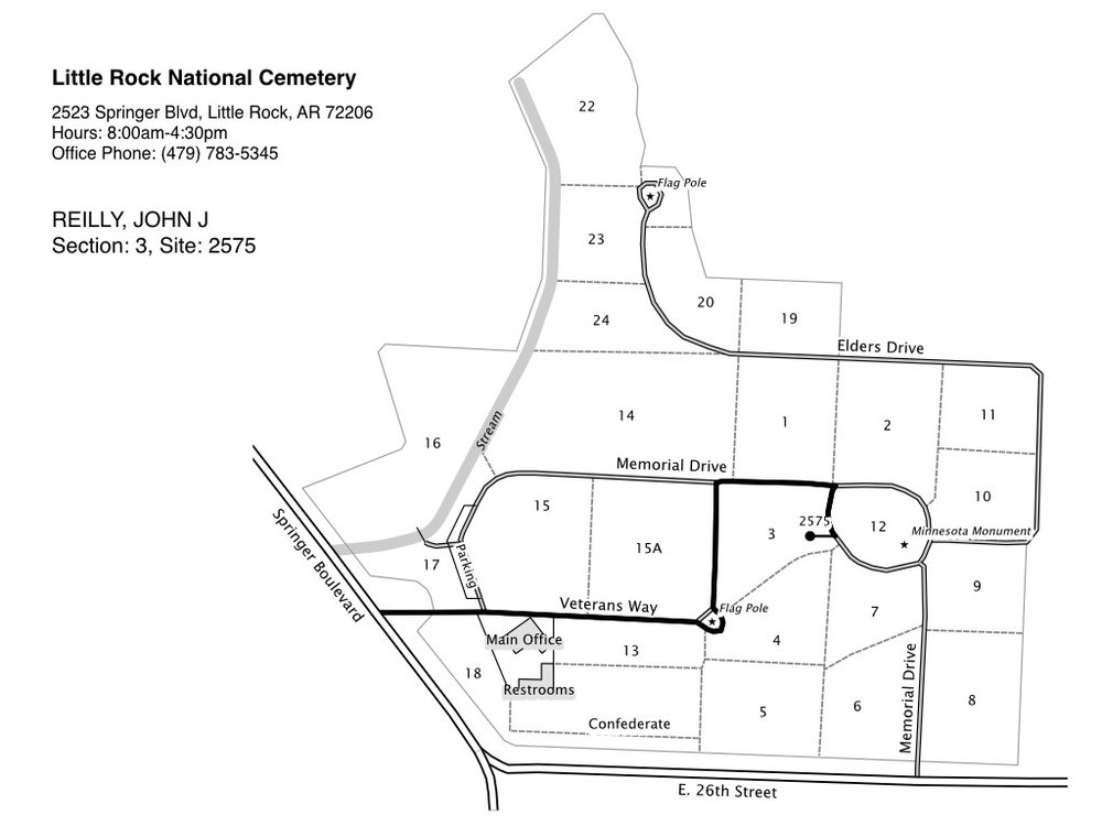Prototype 2: improved cemetery maps with the ability to route visitors to a specific gravesite