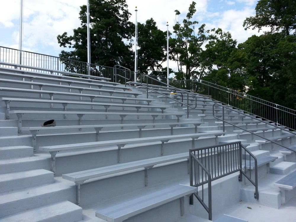 Proposed bench style seating, estimated cost of new seating is $50,000
