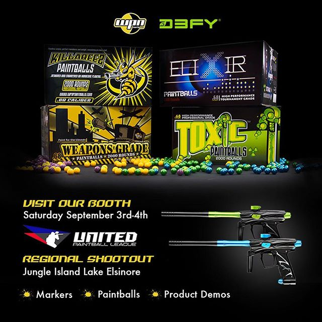 Join us at our booth this weekend at Lake Elsinore to demo the DIIIS Markers & WPN Paintballs. Also available for purchase. #d3fysportsd3s #wpnpaintballs #paintball