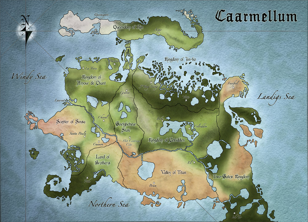 The land of Caarmellum, where the game takes place.