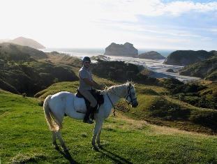JBN + horse- Wharariki Beach NZ- LR.jpg