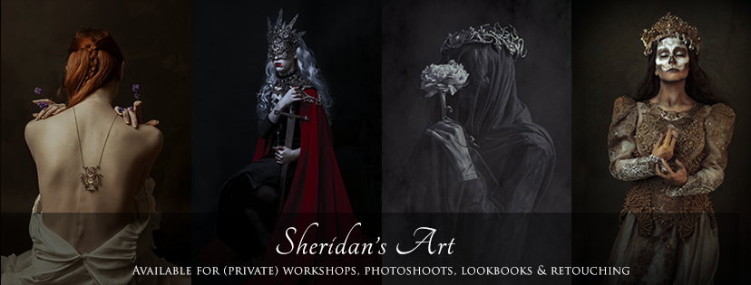 This is my current header banner on my Facebook page where I clearly state my services as (art) photographer. I put this online shortly after my own professional studio opened.