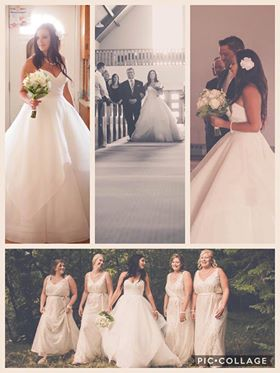 beautiful collage shared by our bride Stacy
