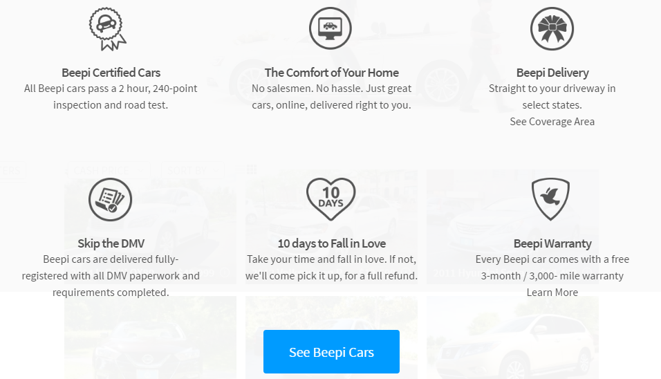 Beepi Learn More Link