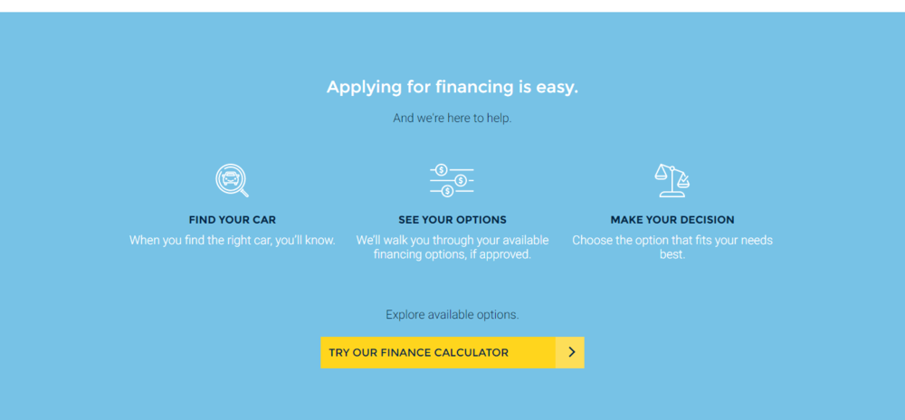 Carmax Homepage - Financing