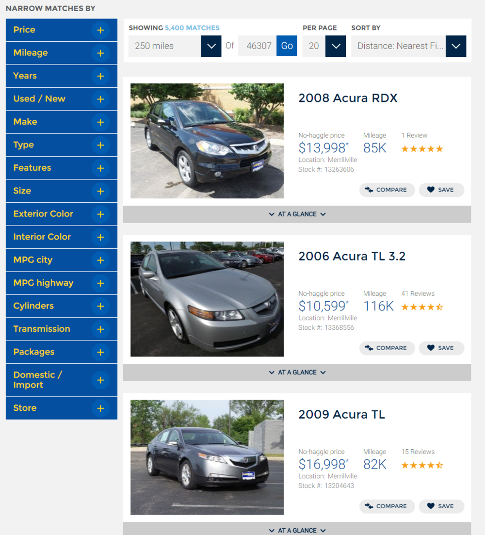 Carmax - find your car