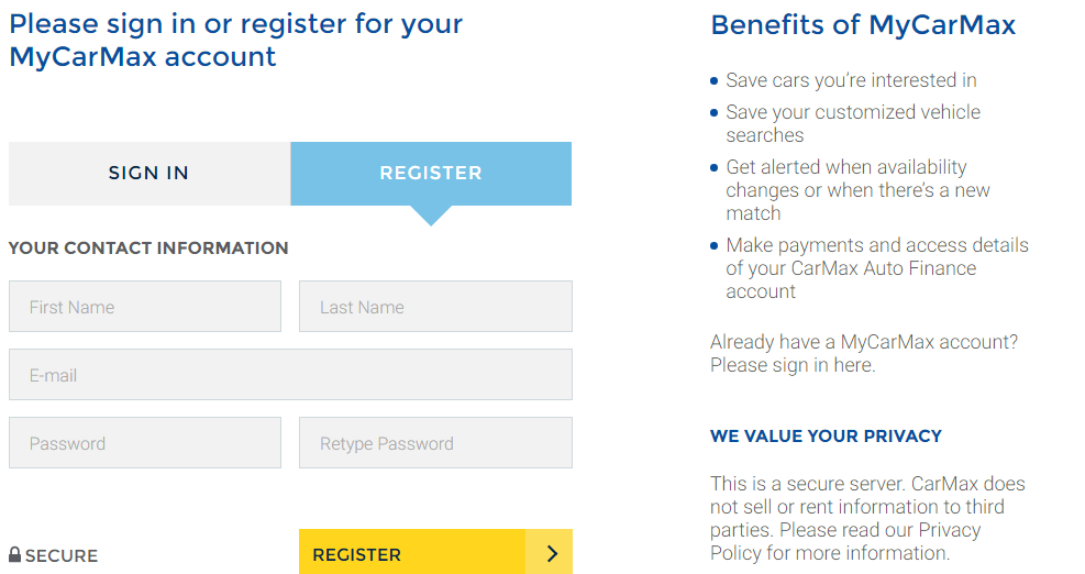 MyCarMax Account