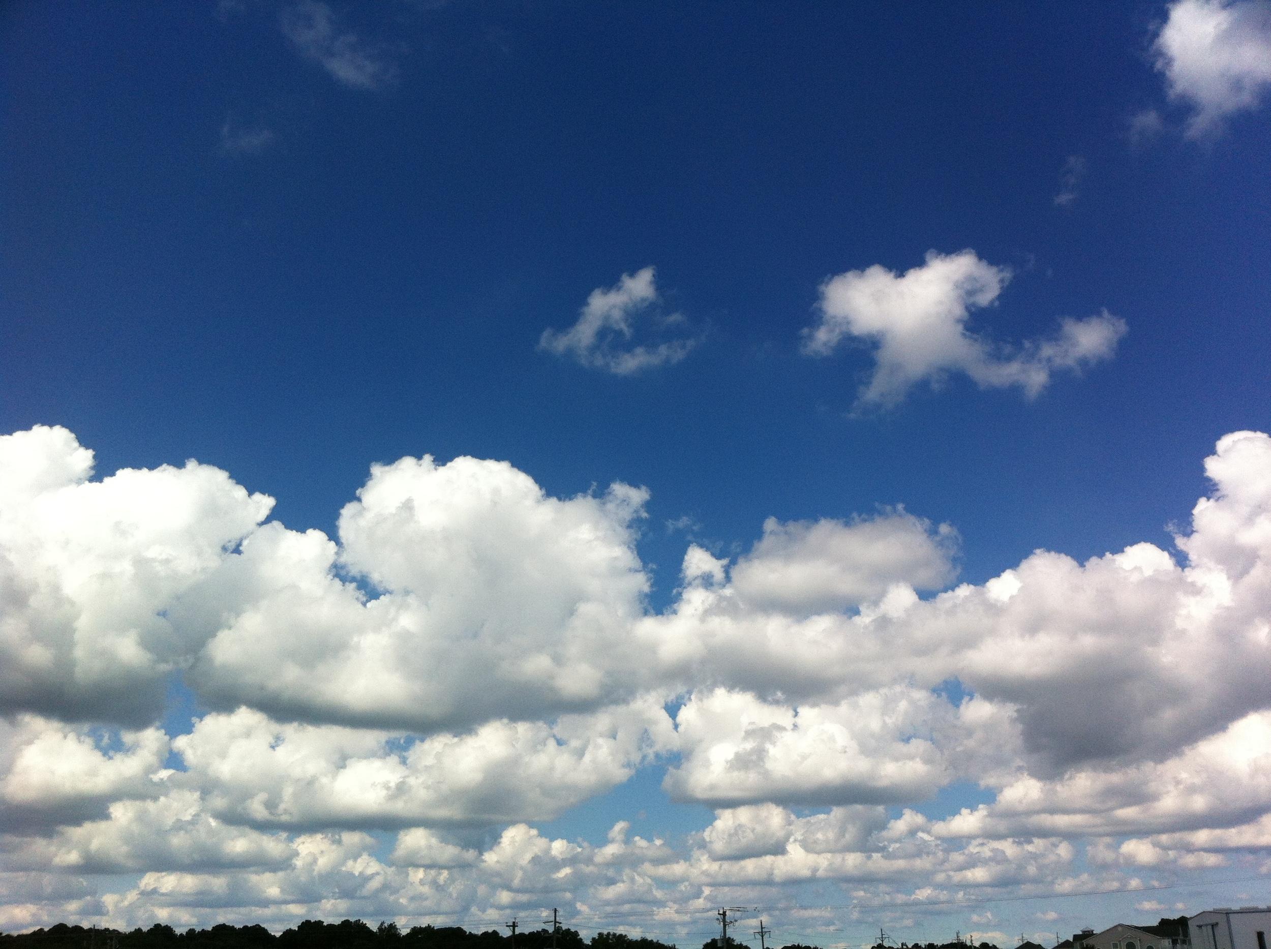 Ocean City clouds