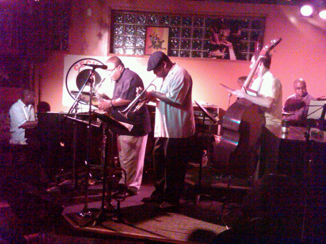 with Brandon McCune, Bruce Williams, Freddie Hendrix, Darrell Green at Cecils Jazz Club 2010
