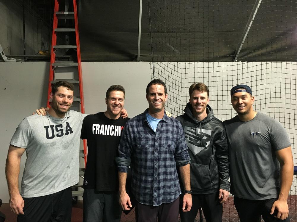 Mac Williamson  SF Giants , Richard Pretego  Wingnuts , Matt Duffy  SF Giants  & Ricky Orapeza  SF Giants