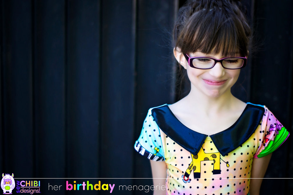 "The Musical Menagerie Dress, a ""kid designed"" fabric creation by Sew Chibi Designs"