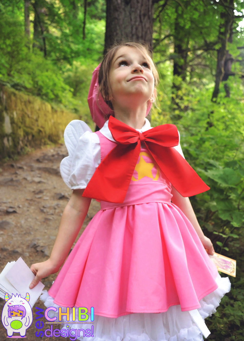 chibi Cardcaptor Sakura cosplay fashion sewn by Sew Chibi Designs for the Classic Anime theme for Sew Geeky the Series!