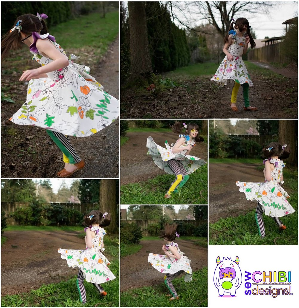 Urban Faerie Kei sewn by Sew Chibi Designs for the Coffee +Thread Pattern Tour 2017. Featured here: the Polina Dress PDF.