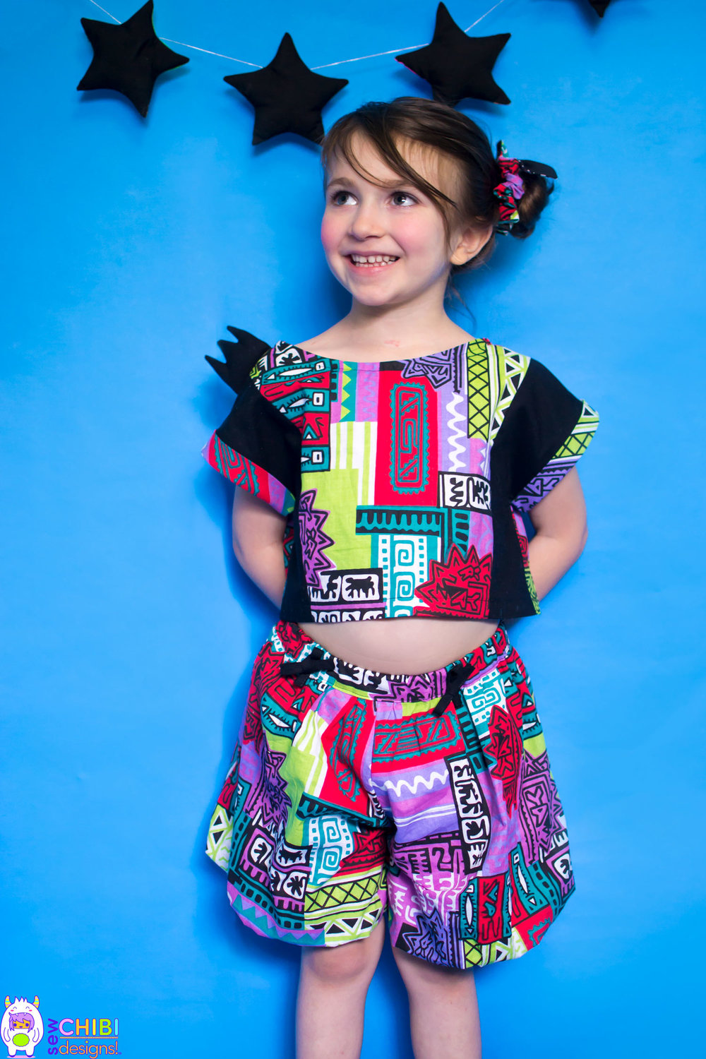 Zou Playset  - the SUPER BUBBLE CULOTTES[sizes 2T-10Y]•super poofy and fully lined.•ties connect to the regular-sized trunk pocket•optional snap-on tail