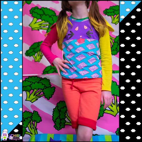 🎐the Natsu Shorties PDF Sewing Pattern — sew chibi designs