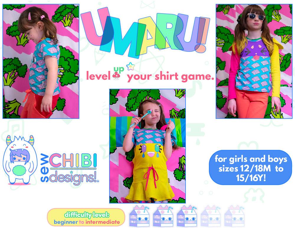 umaru shirt pdf pattern by sew chibi designs