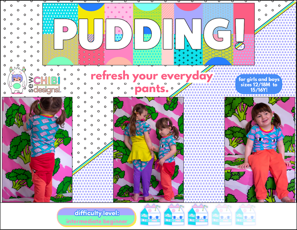 the pudding pants pdf pattern by sew chibi designs