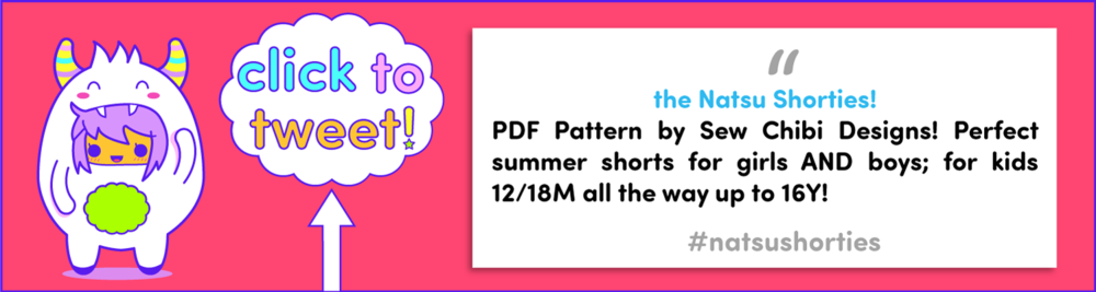 the natsu shorties pdf pattern by sew chibi designs! perfect summer shorts for girls AND boys ages 12M-16Y!