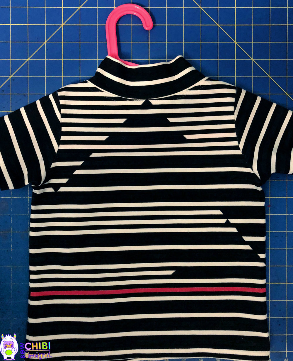 Sew Chibi Designs  STRIPES WEEK: Action, GO! for Project Run & Play. Handmade kids fashion 2018 inspired by Asian streetwear.