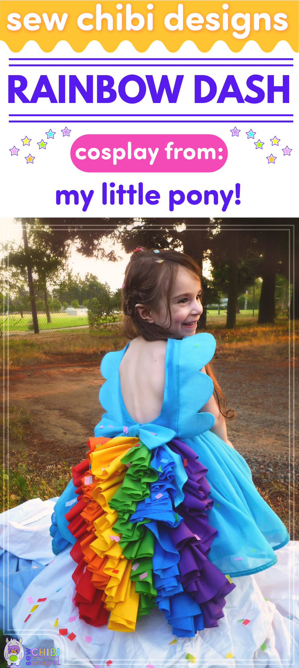 Rainbow Dash chibi cosplay from My Little Pony sewn by Sew Chibi Designs for Sew Geeky