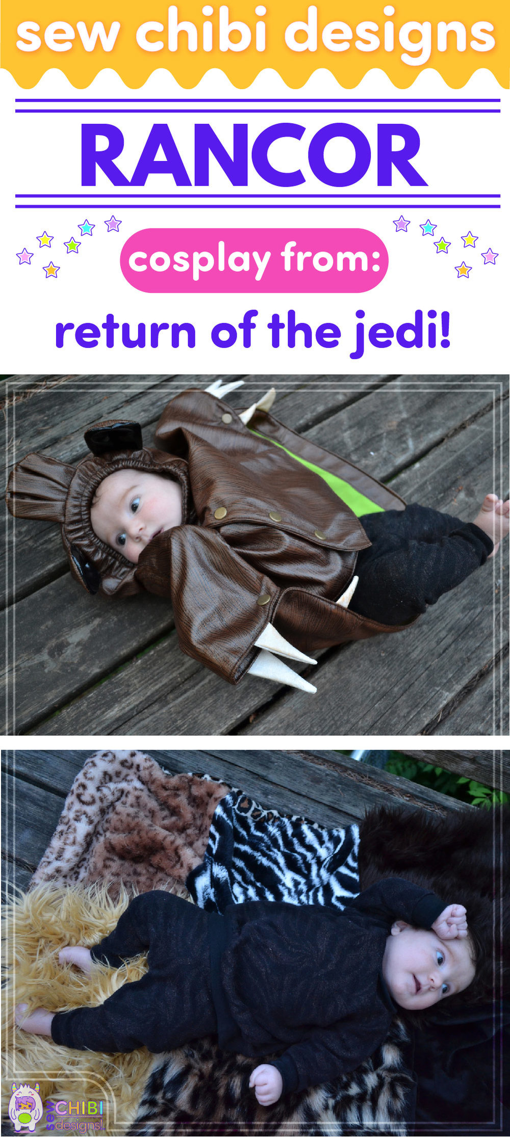 Rancor chibi cosplay from Star Wars sewn by Sew Chibi Designs for Sew Geeky