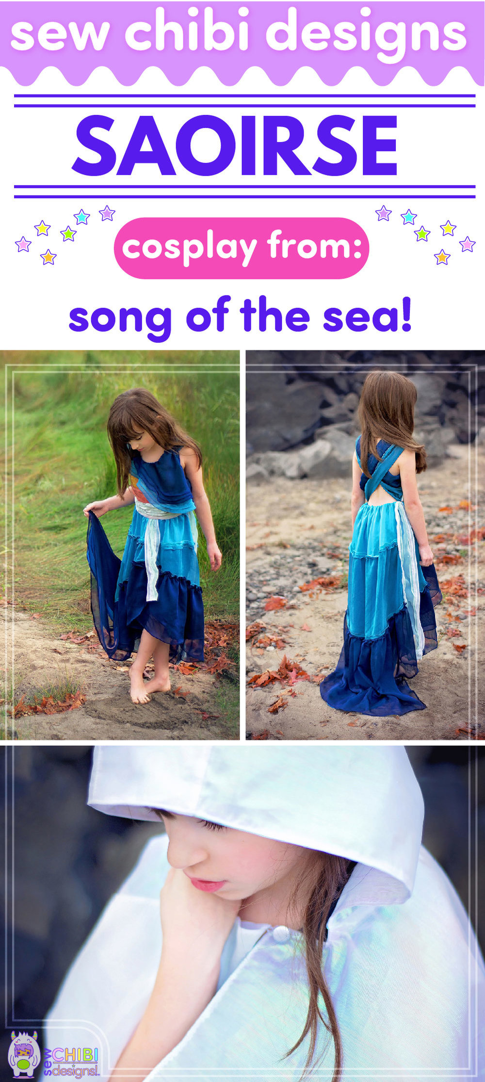 Saoirse chibi cosplay from Song of the Sea sewn by Sew Chibi Designs for Sew Geeky