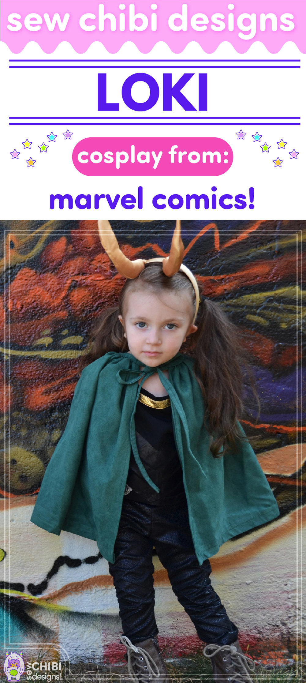 f5e1d8bb299d Loki chibi cosplay sewn by Sew Chibi Designs for Sew Geeky