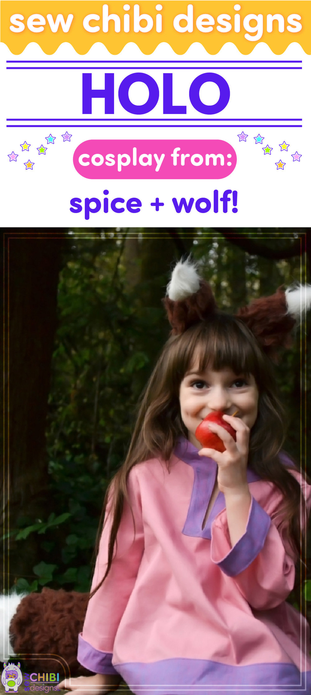 Holo chibi cosplay from Spice + Wolf anime sewn by Sew Chibi Designs for Sew Geeky