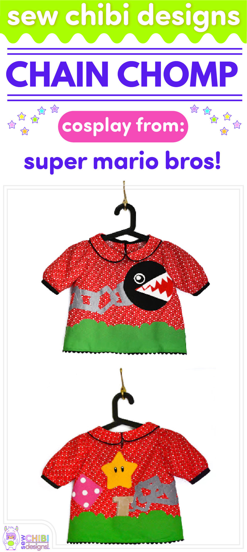 Chain Chomp chibi cosplay from Super Mario Brothers sewn by Sew Chibi Designs for Sew Geeky