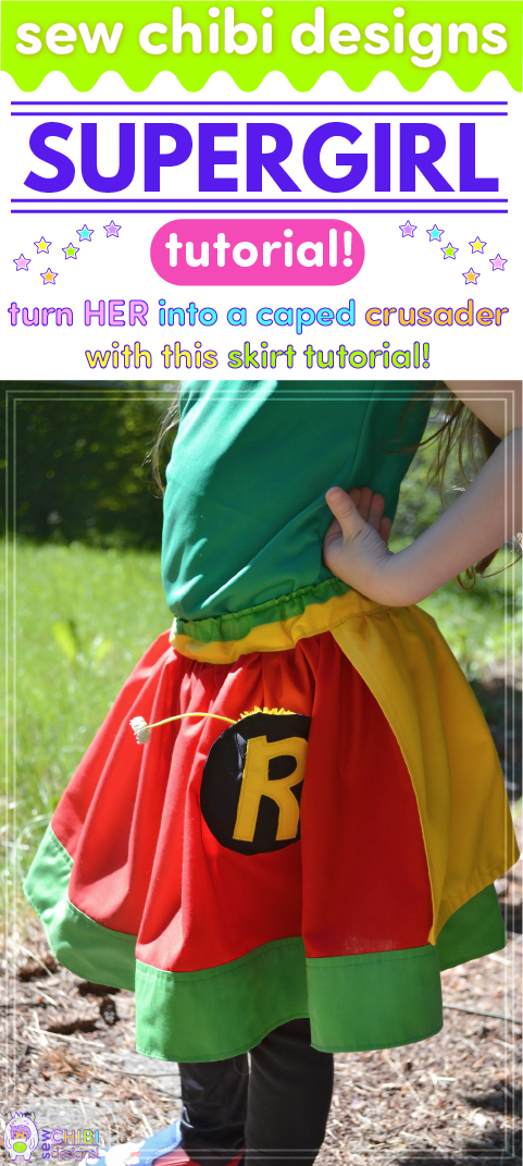 Who says boys are the only ones who can be Batman? Girls love superheroes too! With this tutorial by Sew Chibi Designs, you can learn how to make her a caped skirt that'll help her conquer those villans!