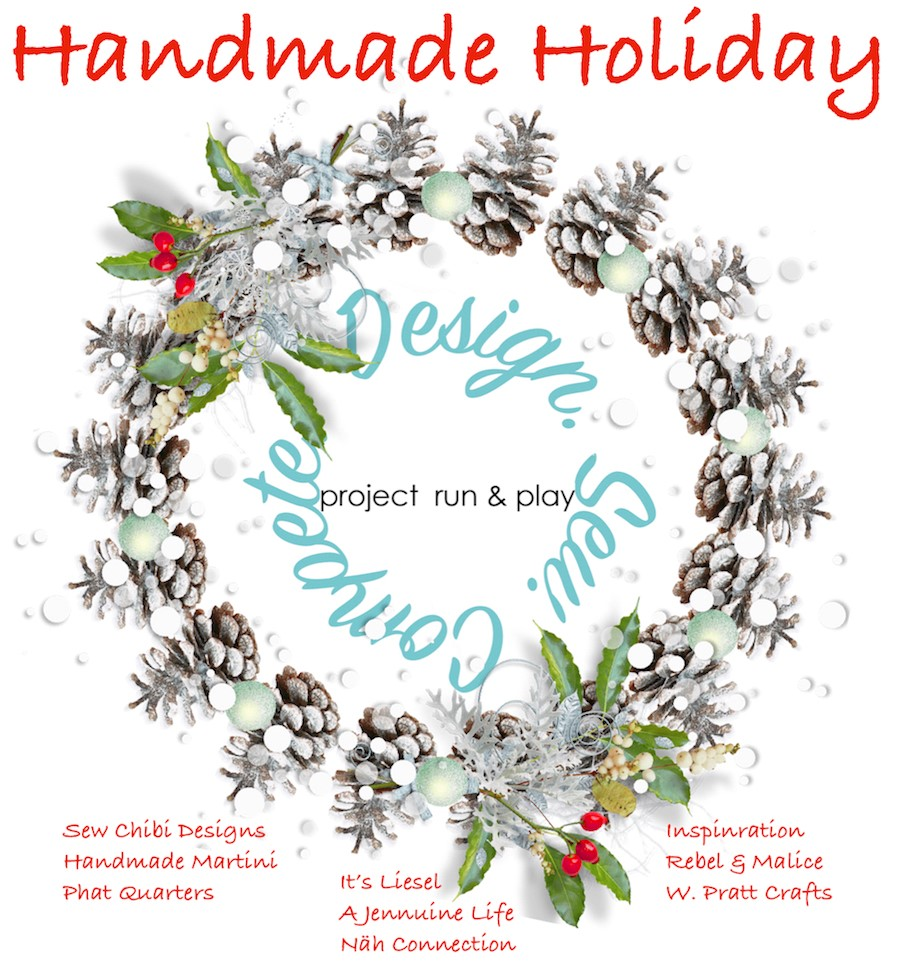 Handmade Holidays! a tour of past designers from Project Run & Play making festive versions of patterns in the official PR&P Pattern shop!