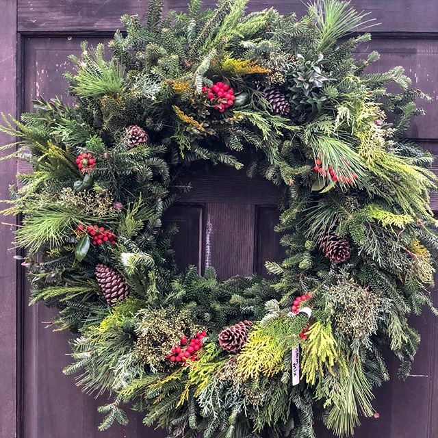 Fresh Wreaths and Garlands are here! Come and get 'em... They smell so good and we can custom design them just for you. . . . . #christmaswreath #greenvillesc #yeahthatgreenville #onlyonaugusta